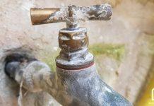 robinet de jardin avec un nouveau joint