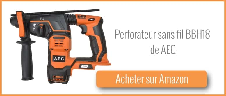 Test perforateur sans fil bbh18 d 39 aeg bricolage facile for Perforateur aeg sans fil