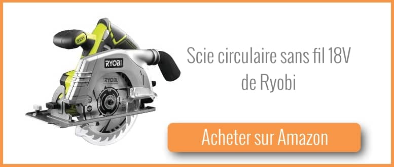 Acheter une scie circulaire sans fil Ryobi