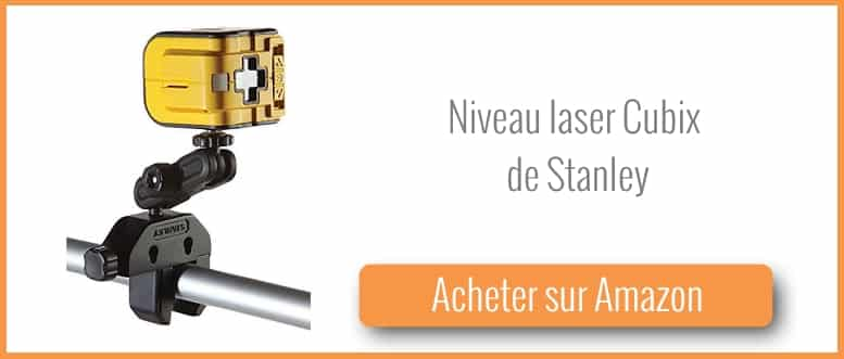 test niveau laser cubix de stanley bricolage facile. Black Bedroom Furniture Sets. Home Design Ideas