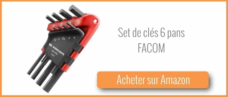 acheter un set de clés 6 pans de Facom