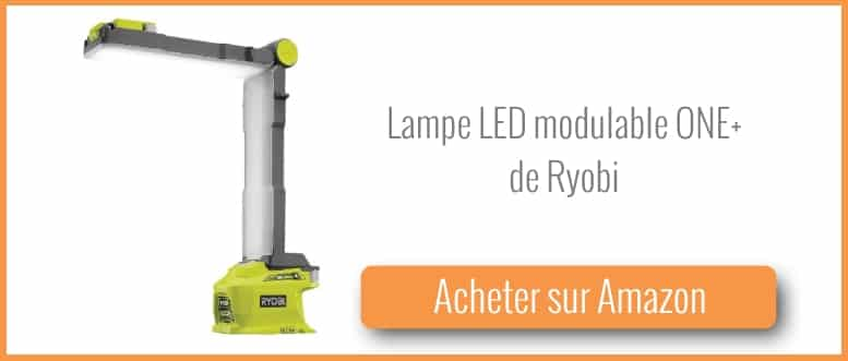 test et avis lampe led modulable 18v one de ryobi bricolage facile. Black Bedroom Furniture Sets. Home Design Ideas