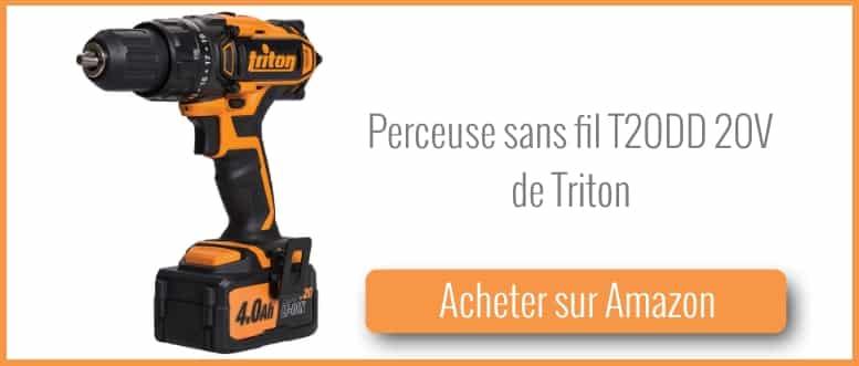 Acheter une perceuse sans fil 18V Triton