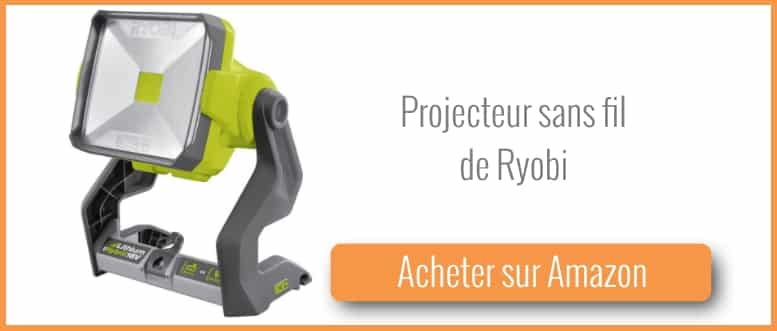 acheter un projecteur sans fil Ryobi