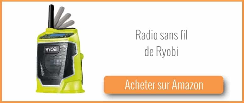 acheter une radio sans fil Ryobi