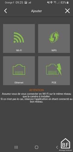 Application Deltadore : connexion à la caméra par Wifi