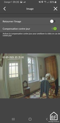 Caméra Tycam : image vidéo avec fonction contre jour