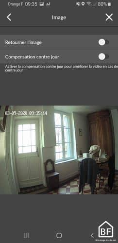 Caméra Tycam : image vidéo