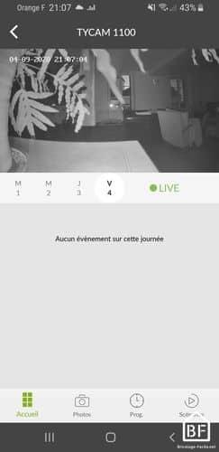 Caméra Tycam : vision nocturne