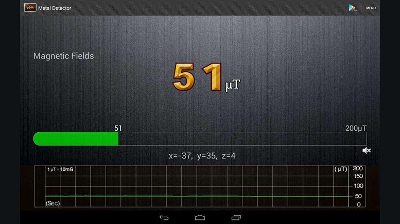 application mobile detecteur de metaux