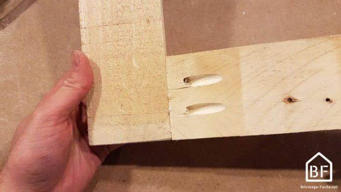assemblage de bois en biais