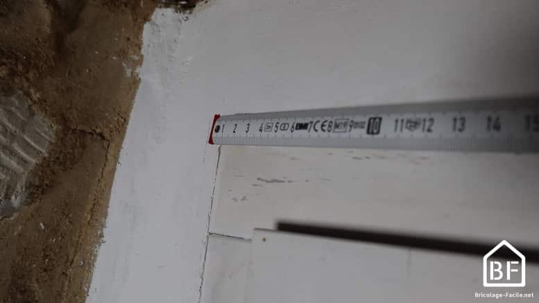 prise de mesure de la longueur de la baguette