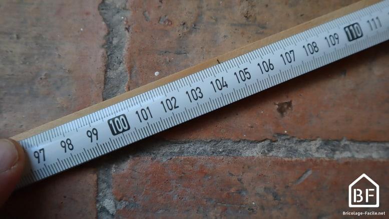 report de la mesure sur la baguette