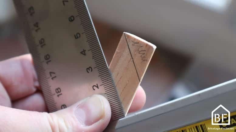 mesure du biseau à 45°