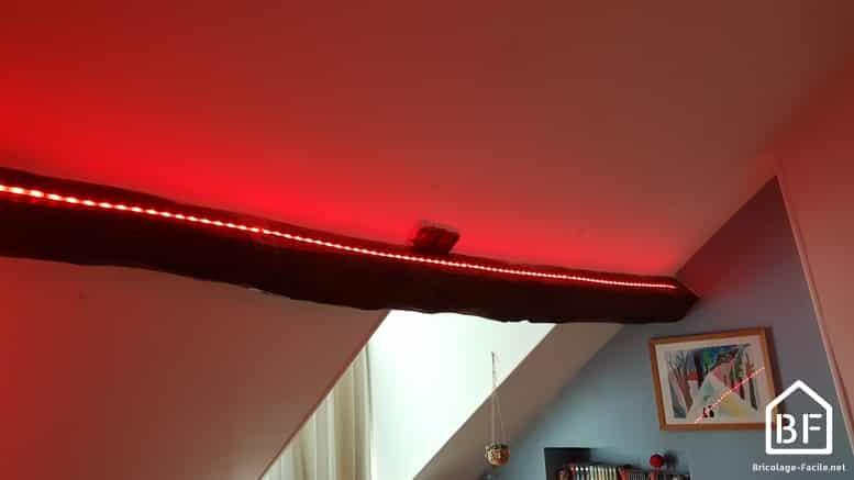 bande LED en rouge