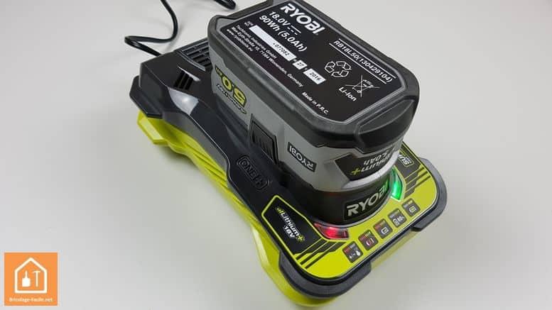 batterie 5Ah one+ ryobi - nouveau chargeur rapide