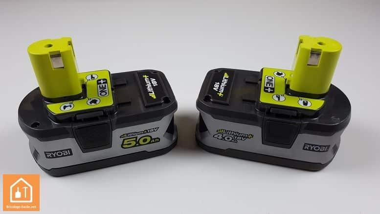 batterie 5Ah one+ ryobi - batteries 4Ah et 5Ah
