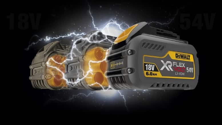 Betterie DEWALT XR FLEXVOLT