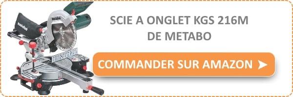 scie onglet radiale metabo kgs 216 m test et avis bricolage facile. Black Bedroom Furniture Sets. Home Design Ideas