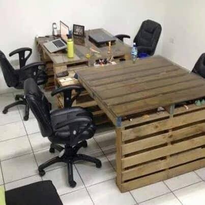 bureau en palette en entreprise