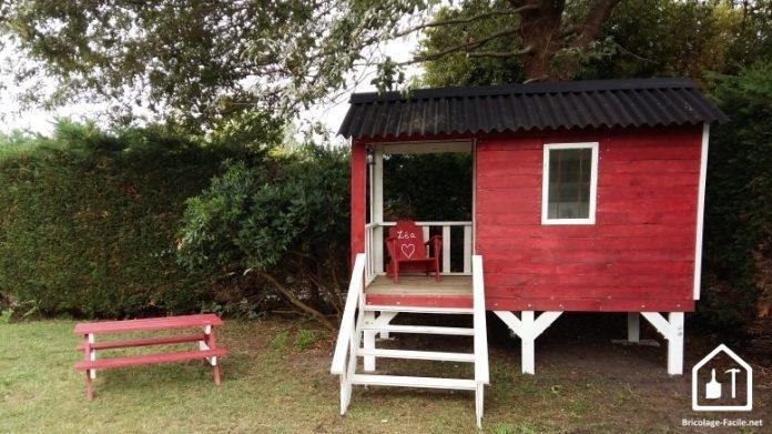 Superbe cabane à partir de bois de palettes