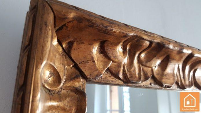 cadre ancien en bois doré
