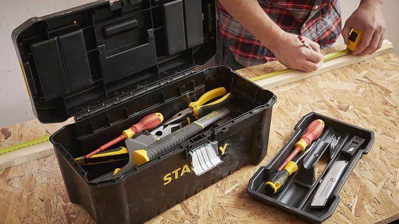 Caisse à outils Stanley en plastique