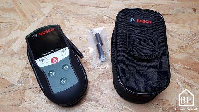 Caméra d'inspection Bosch Universal Inspect et son étui