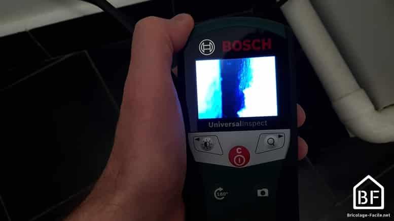 écran de la Bosch Universal Inspect