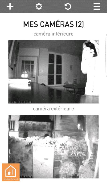 caméras connectées Visidom de Somfy - vison de nuit