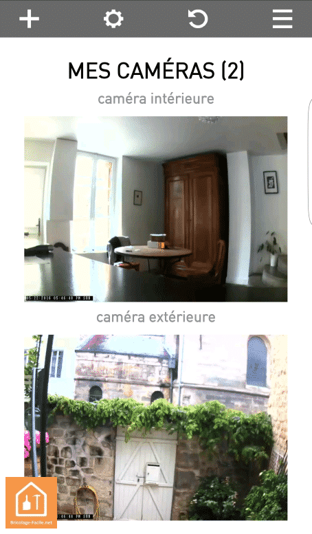 caméras connectées Visidom de Somfy - vision de jour