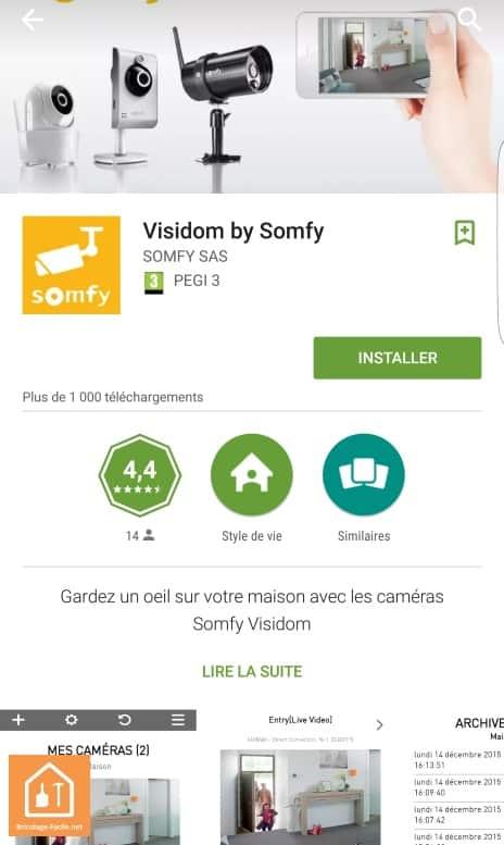 caméras connectées Visidom de Somfy - application Visidom