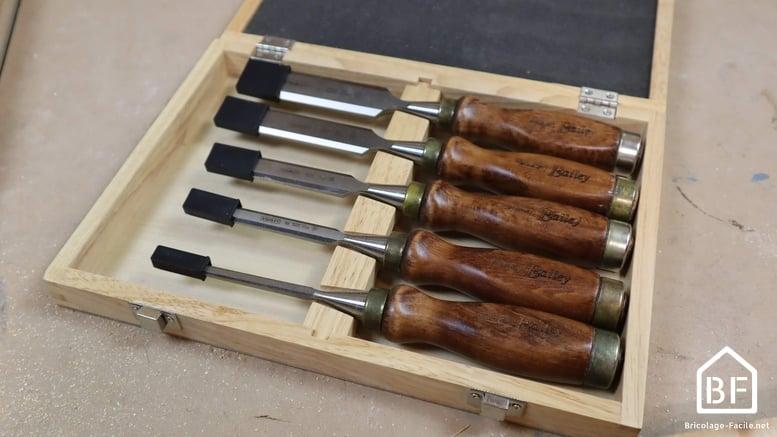 ciseaux à bois en coffret