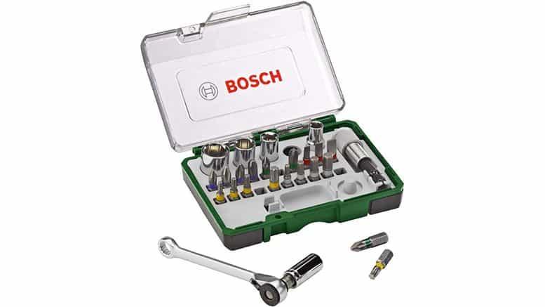 coffret avec clé à cliquet Bosch