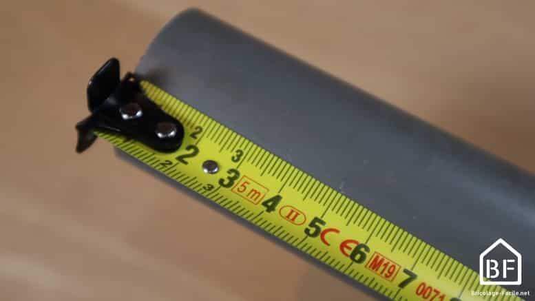 mesure sur tube de pvc
