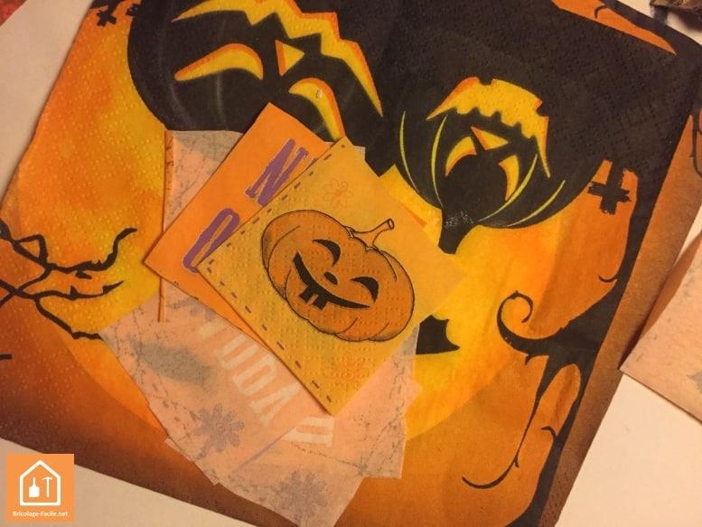 Décopatch halloween - serviette en papier motif halloween