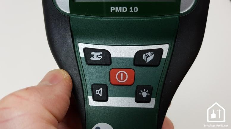 Détecteur PMD 10 de Bosch - boutons