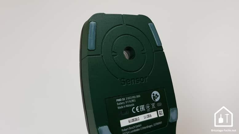 Détecteur PMD 10 de Bosch - zone de détection