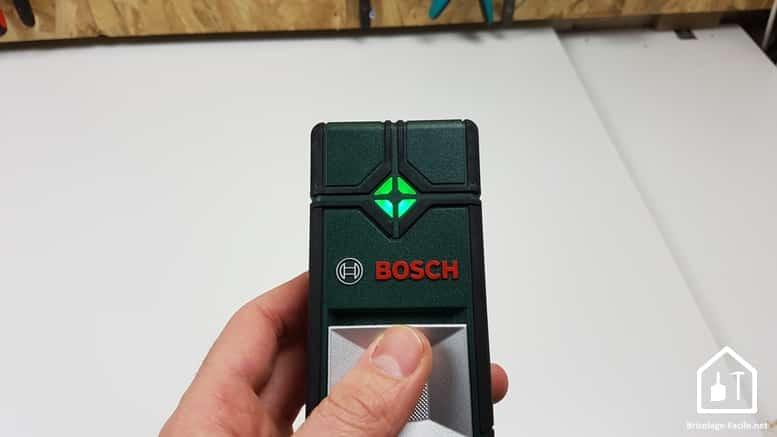 détecteur Truvo de Bosch - voyant vert, pas de métal