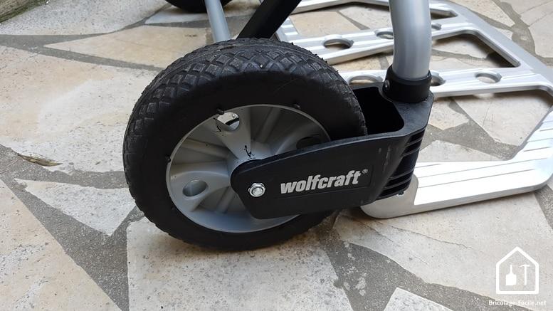 Diable pliant TS1500 de Wolfcraft - roue