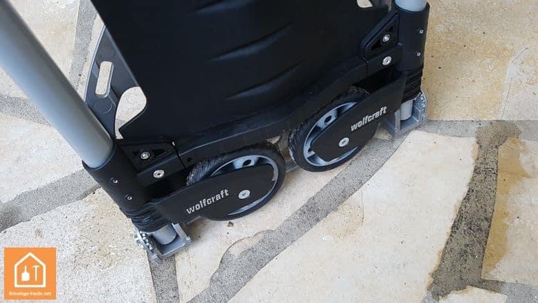 diable pliant TS300 de wolfcraft - les roues
