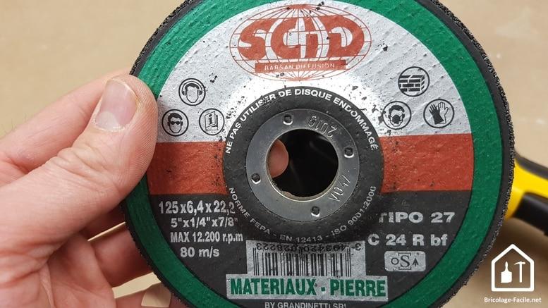 Disques de découpe pour meuleuse SCID - Disque à ébarber la pierre