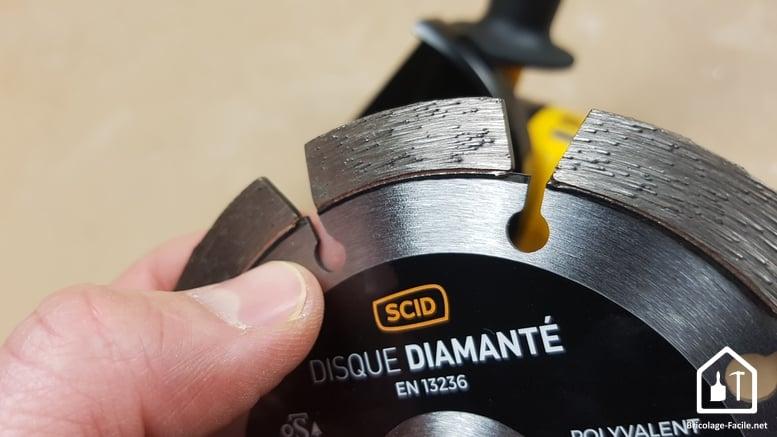 Disques de découpe pour meuleuse SCID - Disques diamantés spécifiques