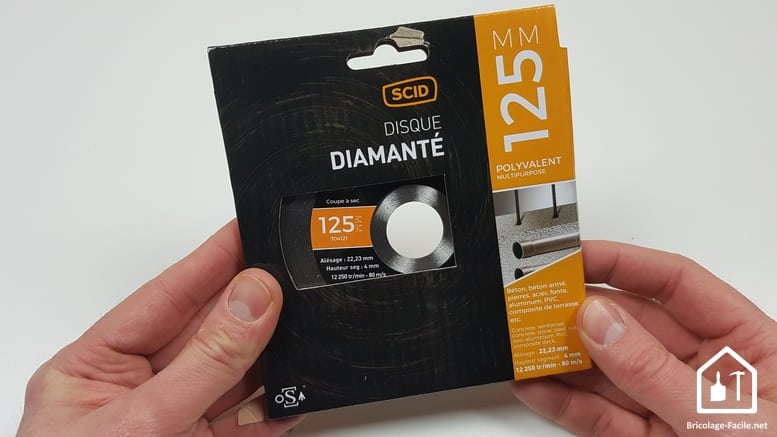 Disques de découpe pour meuleuse SCID - Disques diamantés