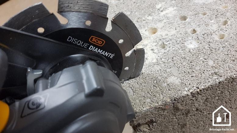 Disques de découpe pour meuleuse SCID - Disques diamantés spécifiques béton