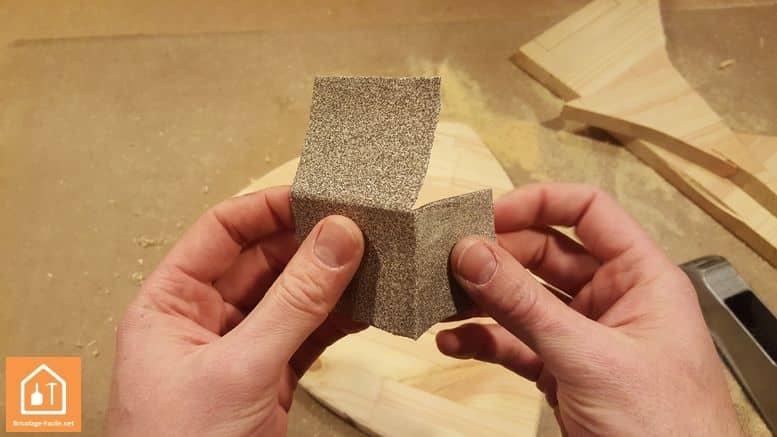 pliage papier abrasif