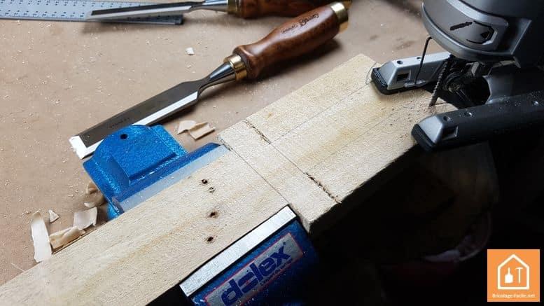 Epée en bois - découpe de la forme