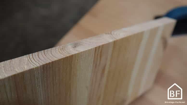 planche en bois poncée