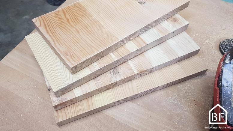 planche de bois découpées