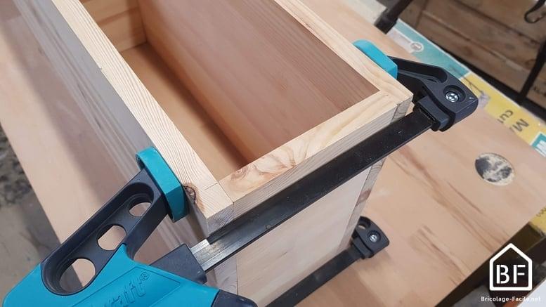 serrage des planches avant fixation